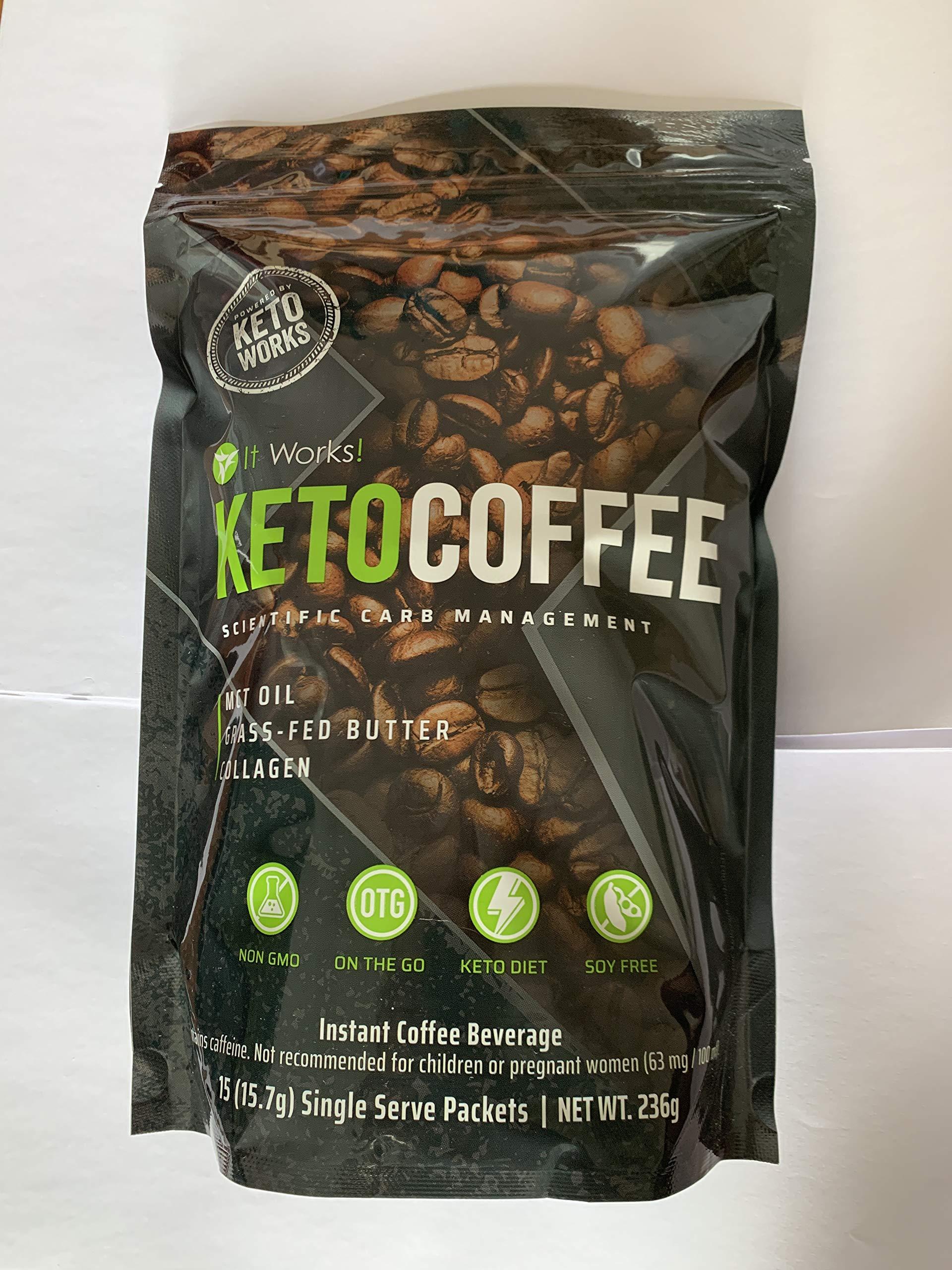 It Works Keto Coffee Ketocoffee 15 Individual Servings Per Bag by IT WORKS Ketocoffee (Image #1)