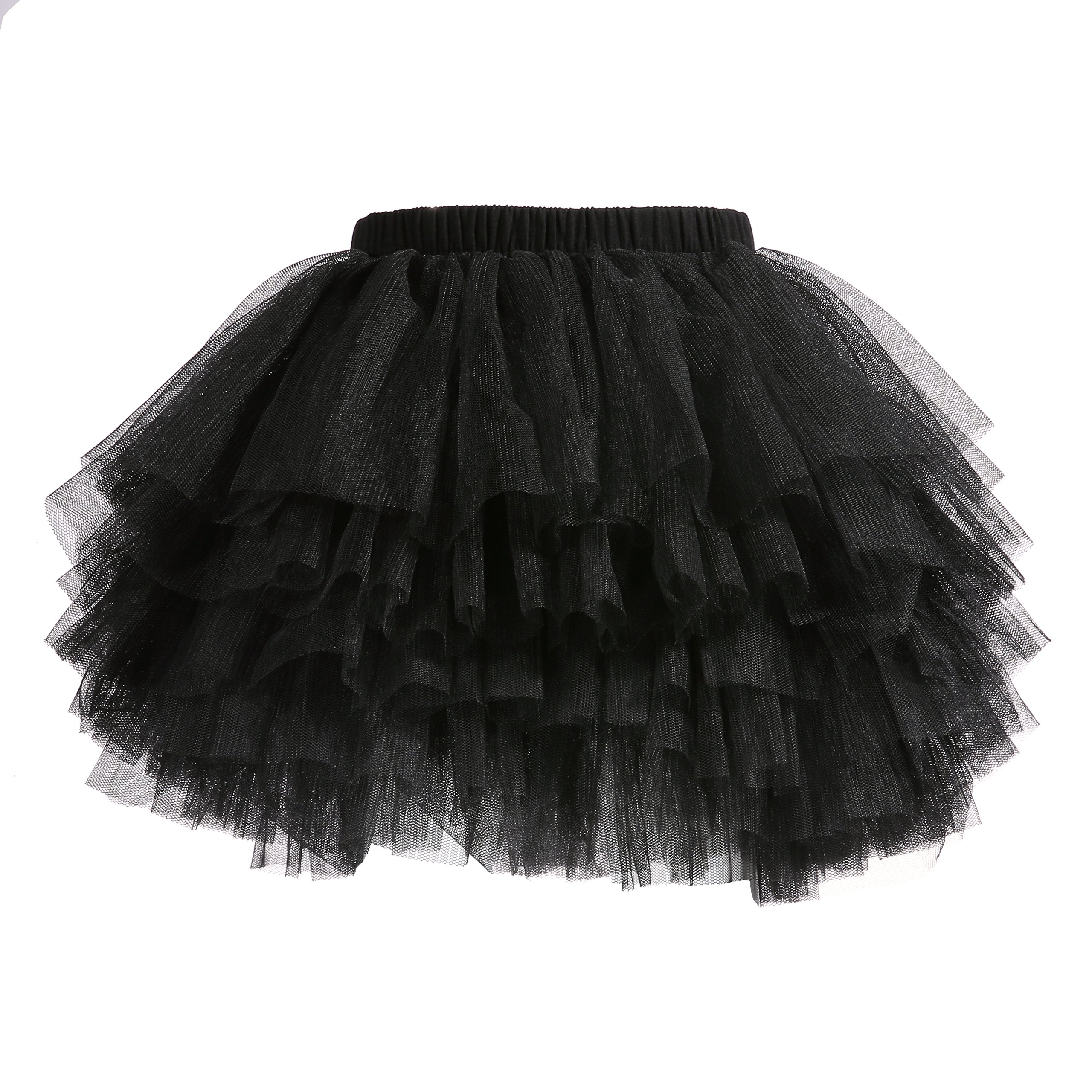 Baby Girls' Tutu Skirt Toddler 6 Layered Tulle Tutus 1-8T Black by Lucky-BB