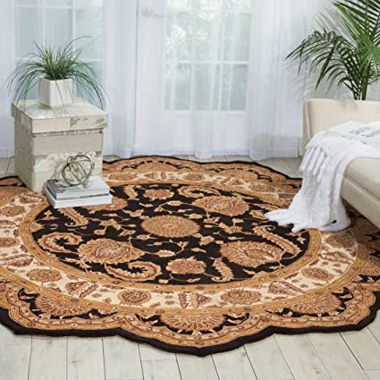 free form rug  Amazon.com: Nourison Heritage Hall (HE8) Black Free Form ...