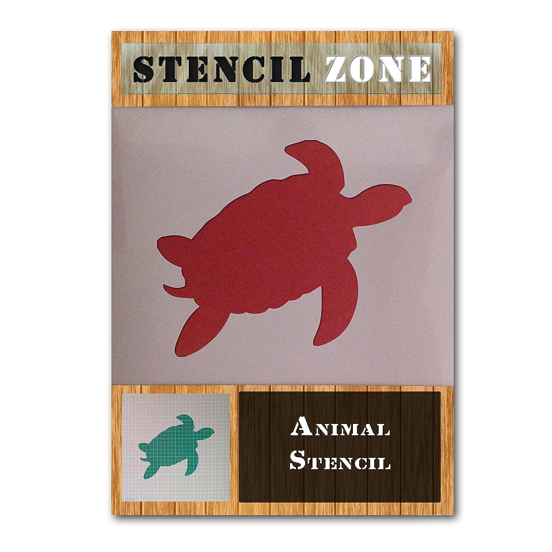 Xlarge Schildkr/öte Sea Animal Reptile Mylar Airbrush Gem/älde Art Wand Crafts Schablone Zwei A1 Size Stencil