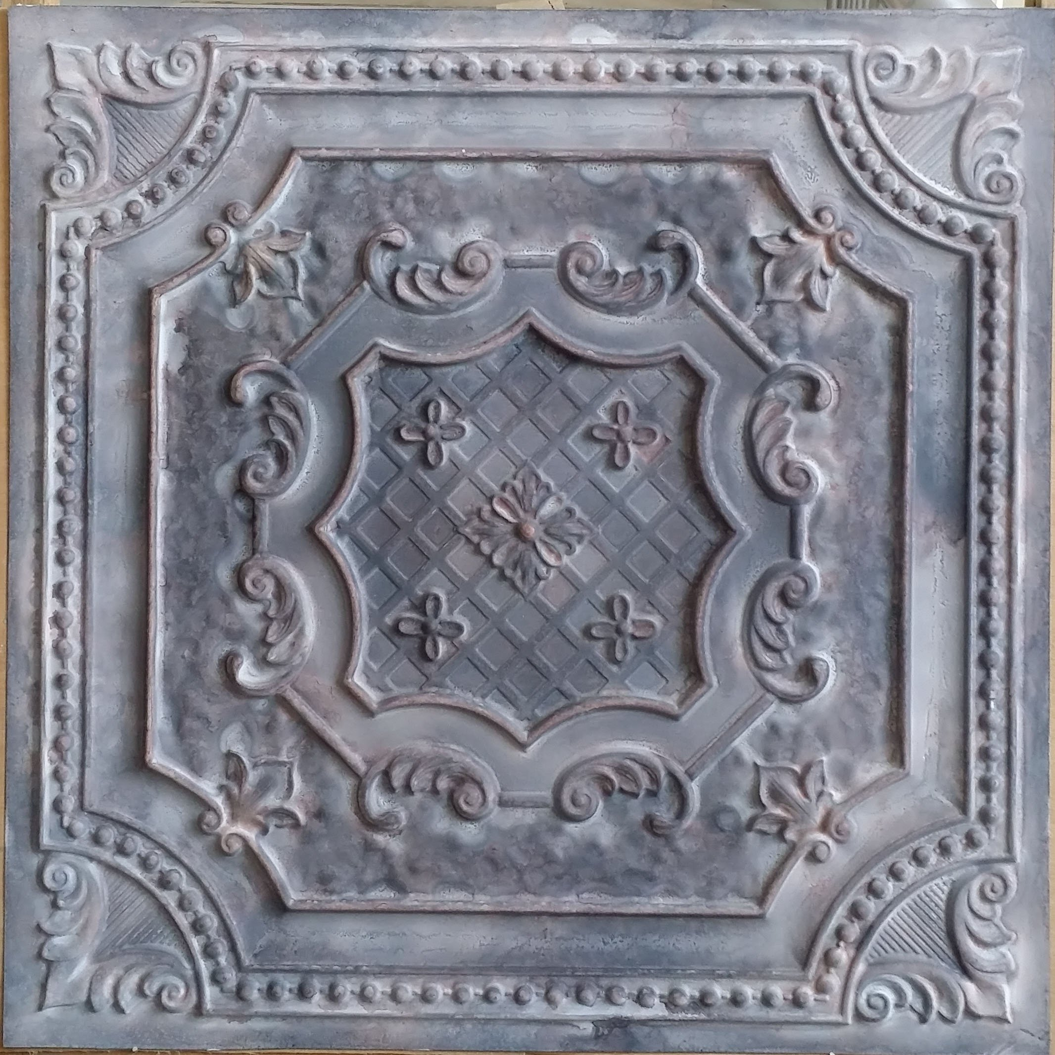 LASTDECOR Ceiling Tile Faux tin finishes Aged Wood Gray Cafe Decor Wall Panel PL04 Pack of 10pcs