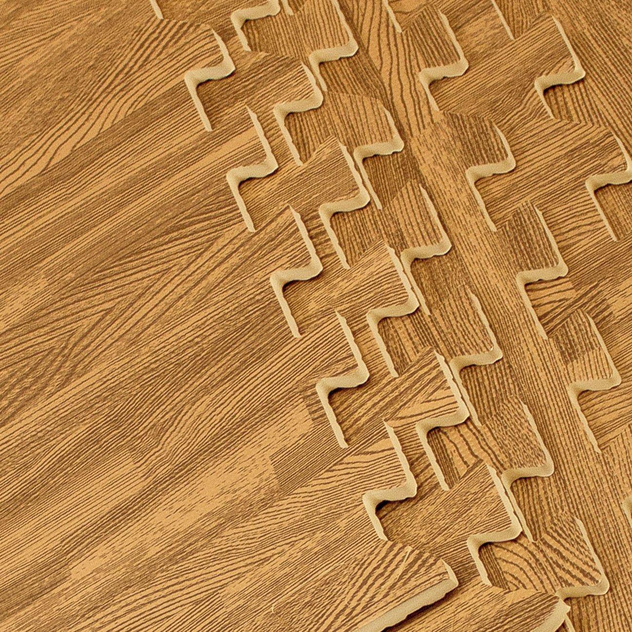Sorbus Interlocking Floor Mat Print, Wood Grain - Light (6-Piece) by Sorbus (Image #8)