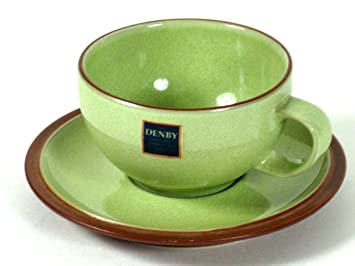 Amazon.com | Coffee Cup Saucer Denby Juice Apple 2pcs 1998-2005 ...
