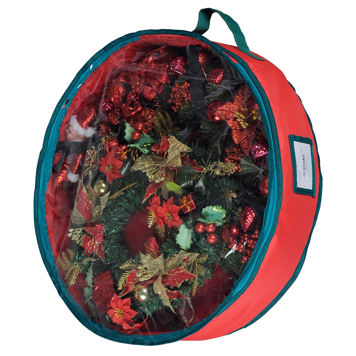 Wreath Storage Container Bag With Clear Lid Ki Store 30 Inch Christmas Wreath Garland Storage Heavy