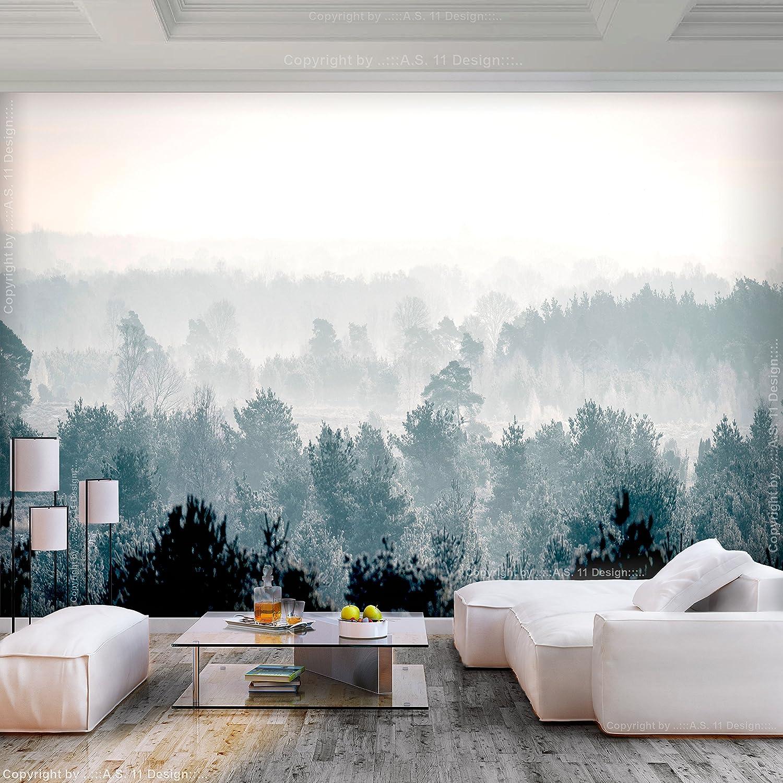 murando Carta da parati Bosco Foresta 450x315 cm Fotomurali in TNT Murale alla moda Decorazione da Muro XXL Poster Gigante Design Carta per pareti Nuvole Natura c-B-0347-a-a