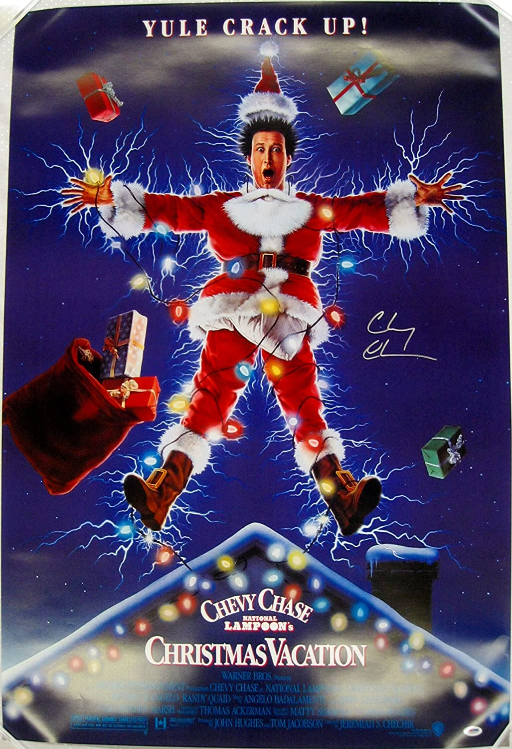 Chevy Chase Signed National Lampoon's Christmas Vacation 27x40 ...