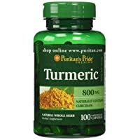 Turmeric by Puritan's Pride, Supports Antioxidant Health, 800mg, 100 Capsules, Turmerric (MP_1000009808)