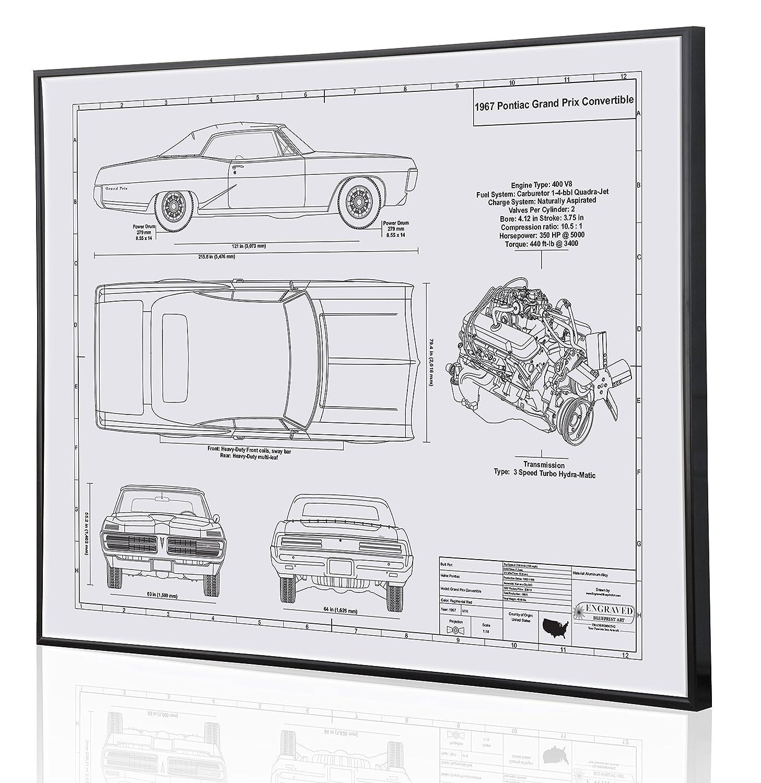 Amazon.com: Pontiac Grand Prix 1967 Blueprint Artwork-Laser Marked &  Personalized-The Perfect Pontiac Gifts: Handmade
