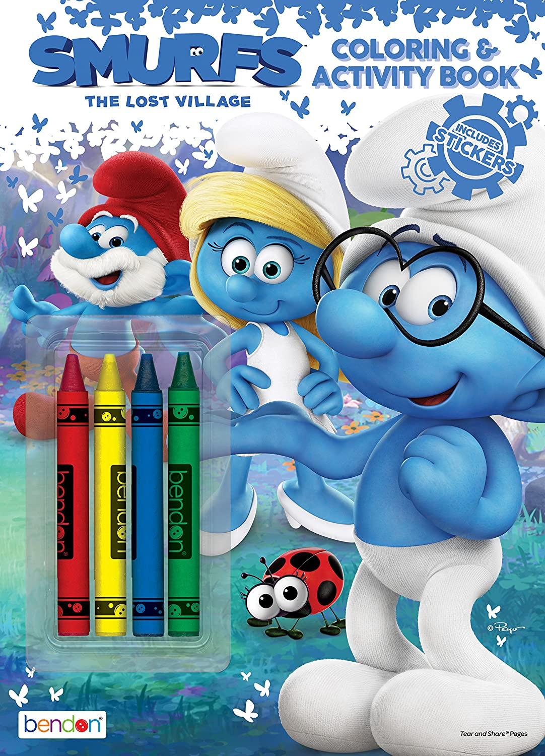 Amazon.com: Bendon 43132-Amzb Smurfs: The Lost Village Coloring and ...