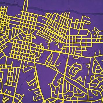 Amazon Com City Prints East Carolina University Campus Map Art