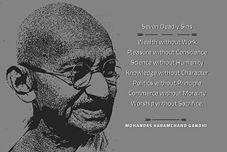 glowvia inspiring quotes seven deadly sins mahatma gandhi photo
