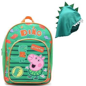 Mochilas Infantiles Niña Peppa Pig Cartera Escolar Niños Niñas George Pig con Capucha Dinosaurio: Amazon.es: Equipaje