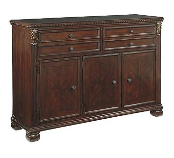 Captivating Ashley Furniture Signature Design   Leahlyn Dining Room Buffet   Old World  Traditional Design   Reddish