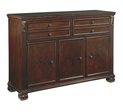Ashley Furniture Signature Design   Leahlyn Dining Room Buffet   Old World  Traditional Design   Reddish