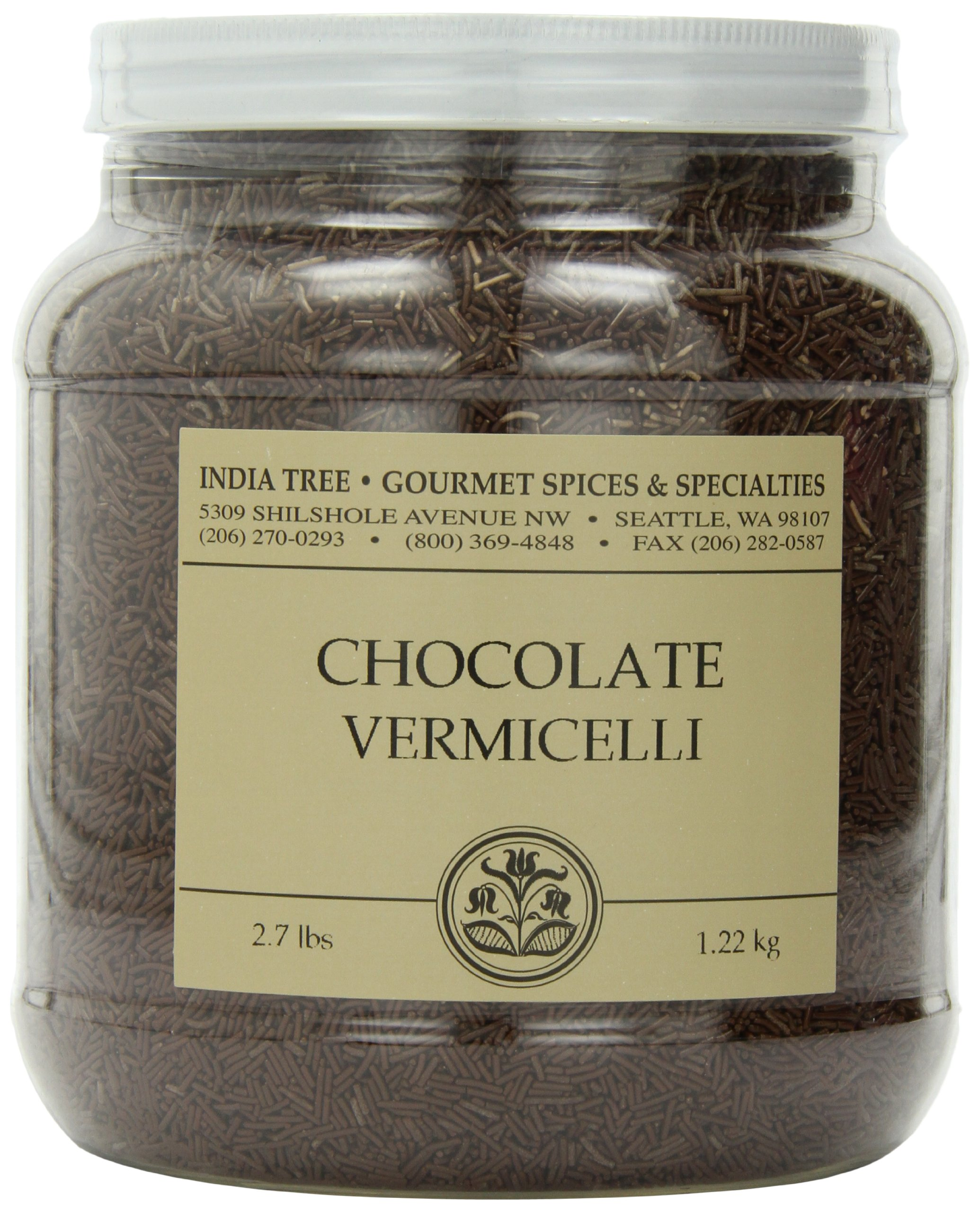 India Tree Chocolate Vermicelli, 2.7 lb by India Tree