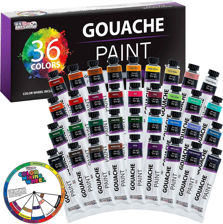 set de pintura Gouache 36 colores U.S. Art Supply