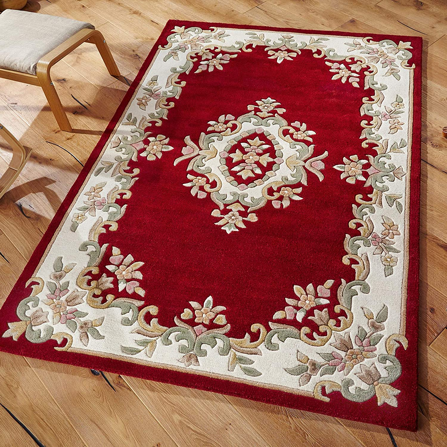 Royal Traditional Rugs - Alfombra Persa Oriental, Lana, Rojo, 160x235cm: Amazon.es: Hogar