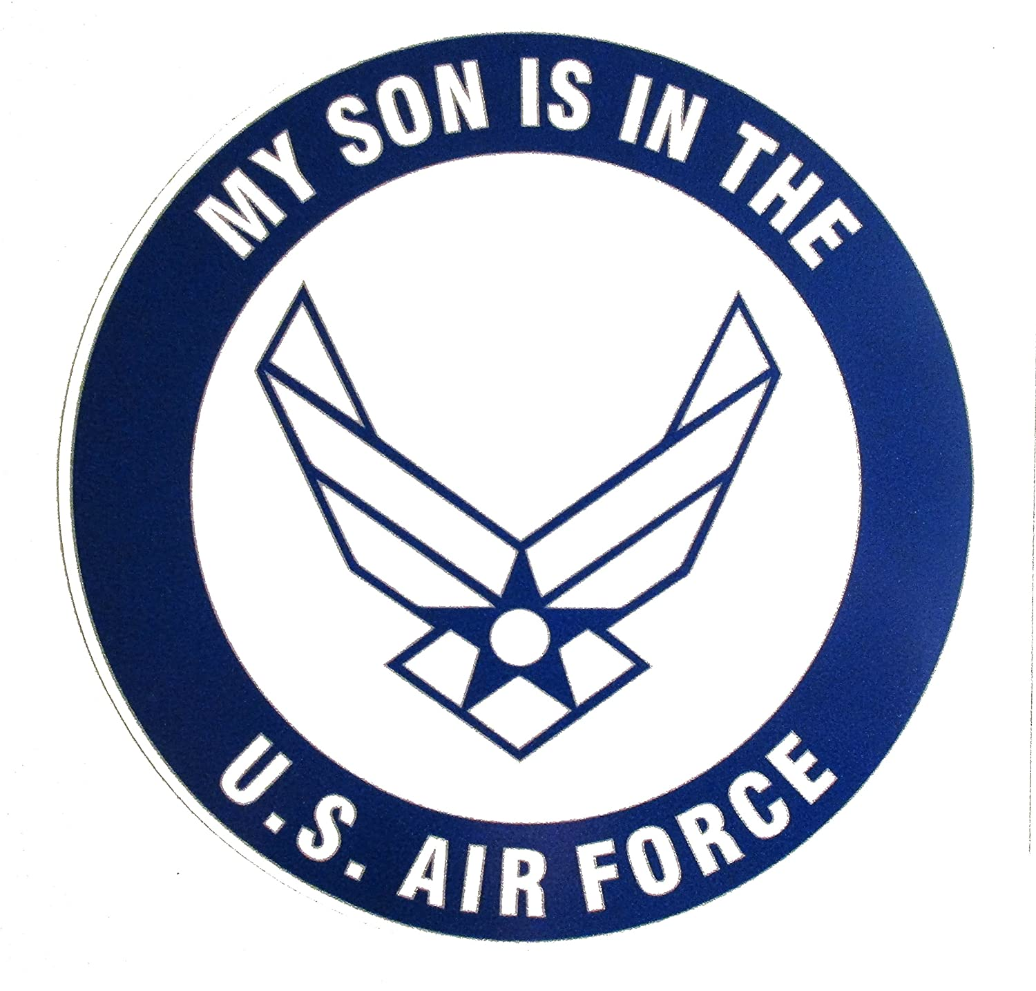 U s custom stickers my sons in the us air force sticker blue