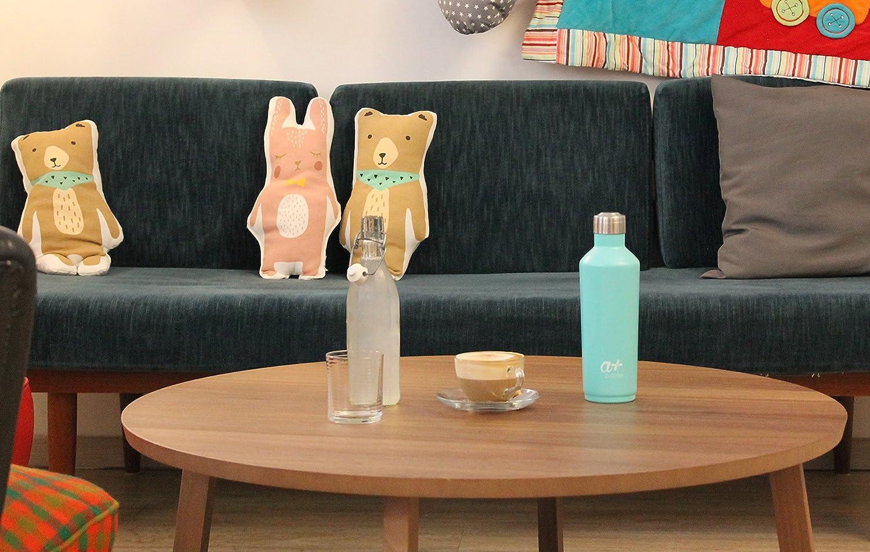 doble pared y aislamiento al vac/ío yoga senderismo o vida cotidiana Botella de agua de acero inoxidable de a+ Bottles dise/ño pr/émium sin BPA para deportes