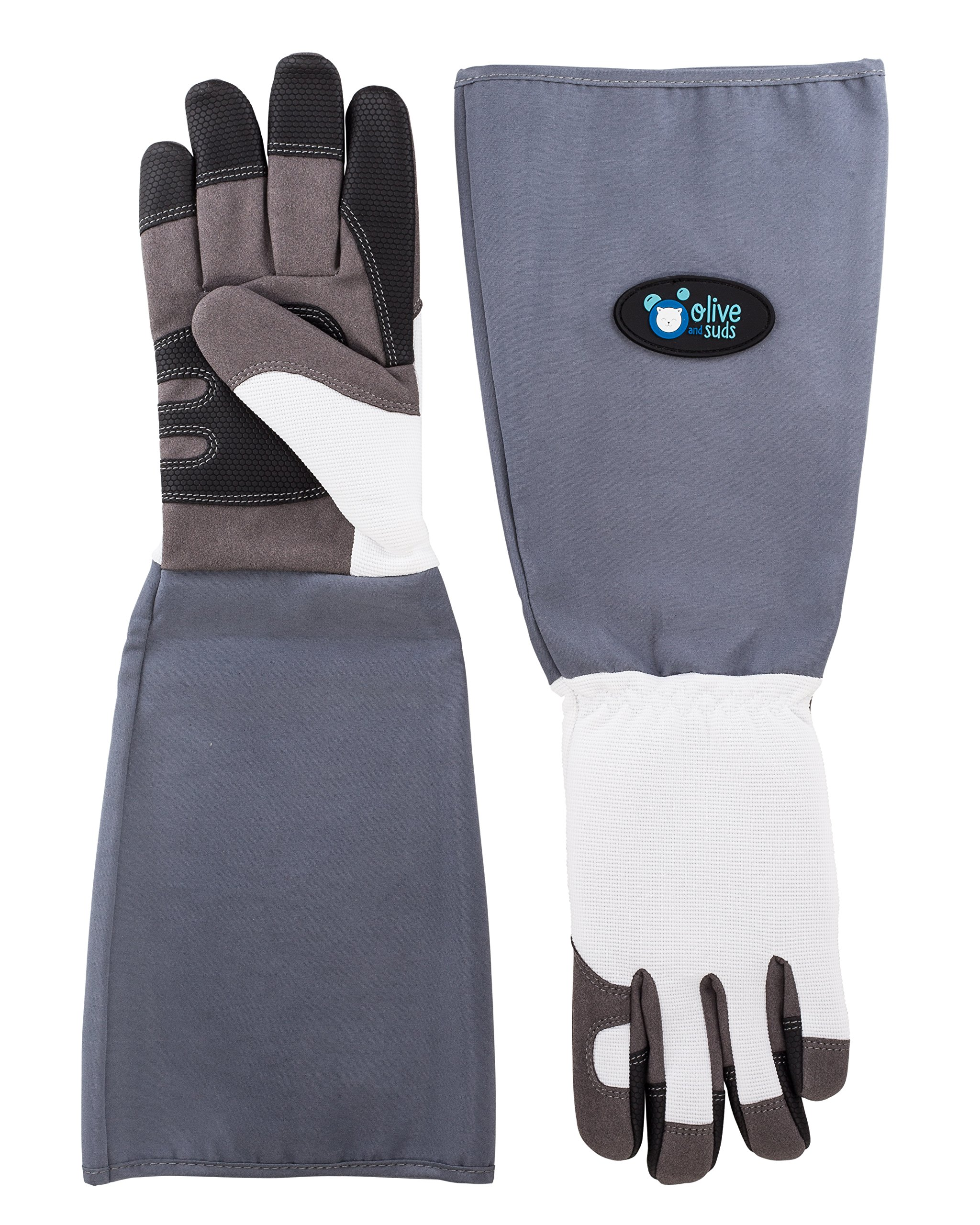 Olive & Suds: Scratch/Bite Resistant Protective Gloves For Bathing, Grooming & Handling Cats, Small Dogs, Other Small Animals