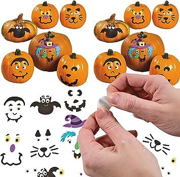 4E s Novelty Bulk 24 Halloween espuma calabaza decoración manualidades Kit, Pack hace 24 calabazas, cada kit ...