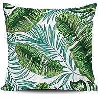 Dijital Baskılı Tropikal Desenli Dekoratif Kırlent Kılıfı | Sare Home - KRB1004