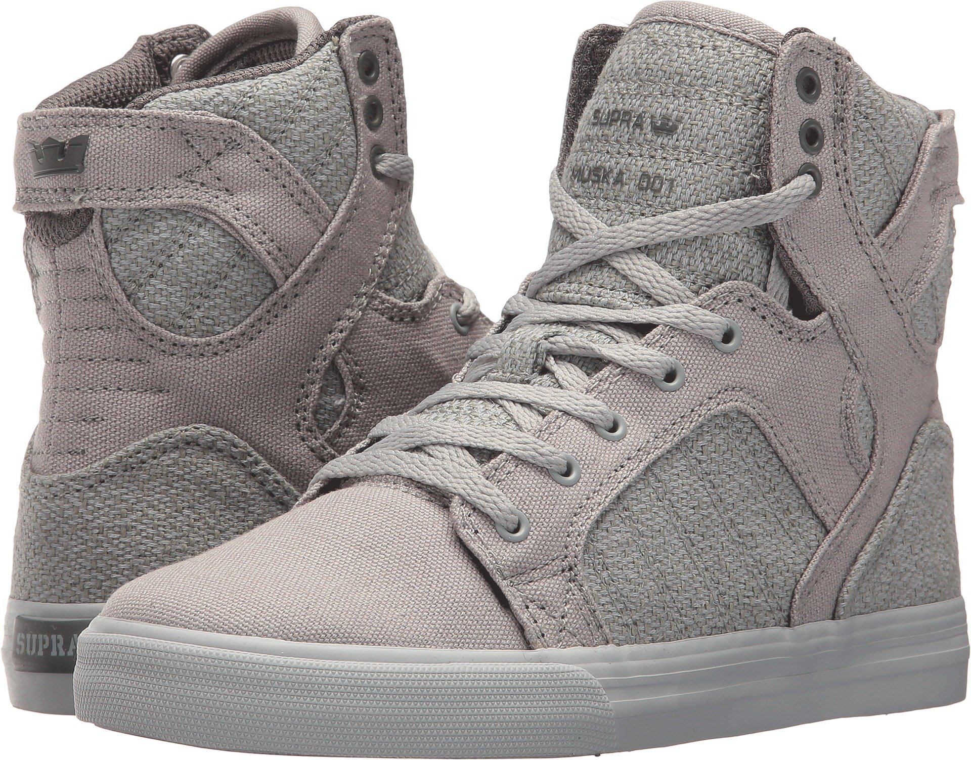 Supra Kids Boy's Skytop (Little Kid/Big Kid) Light Grey/Charcoal/Light Grey 5 M US Big Kid