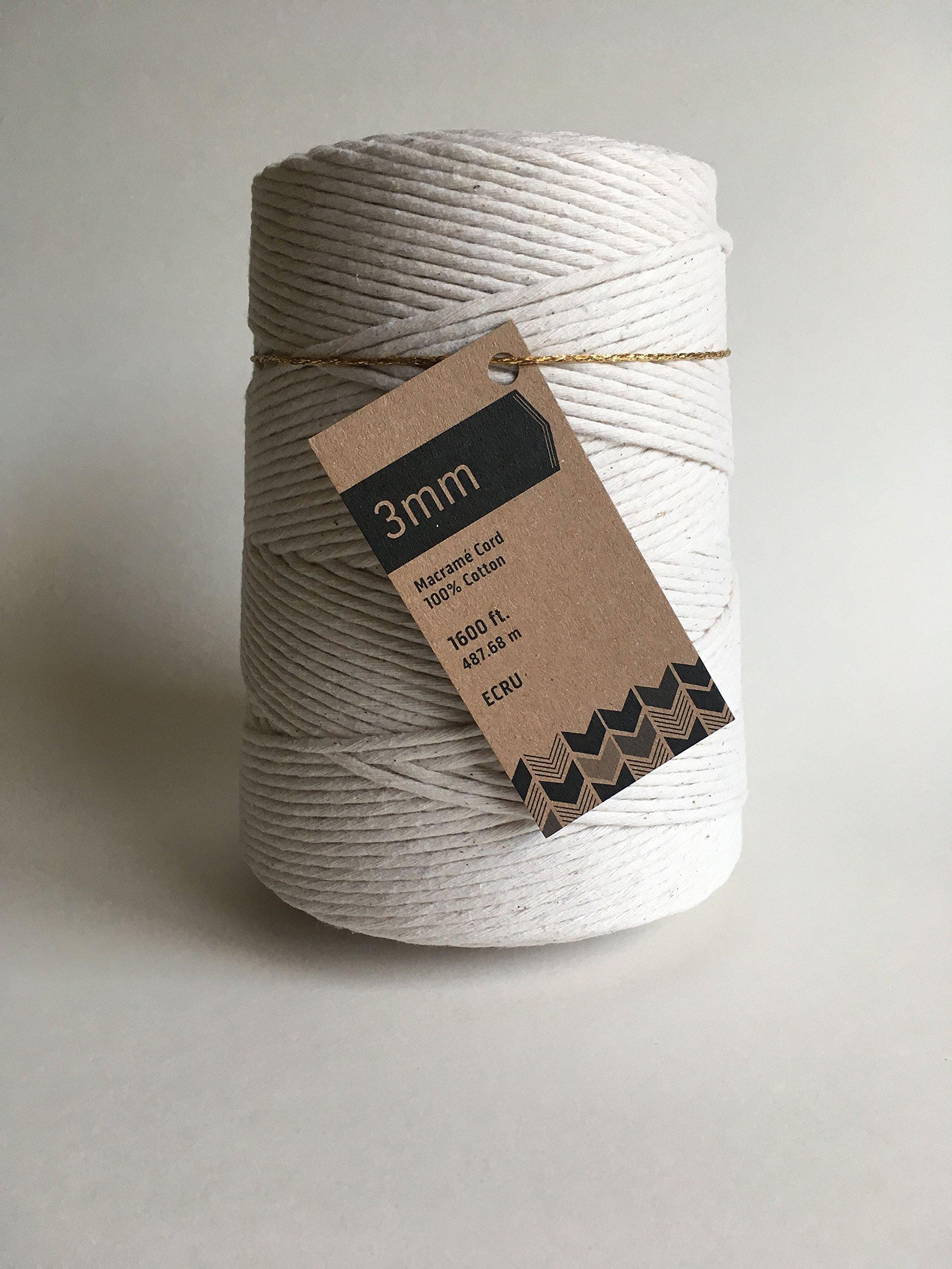 3mm Cotton Macrame Cord/Bulk Knotting Rope