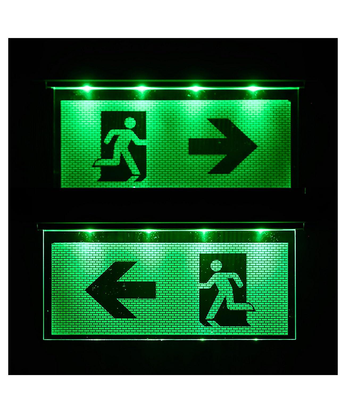 Salida de emergencia salida de emergencia luminaria de emergencia salida de emergencia flecha despu/és a la izquierda//a la derecha