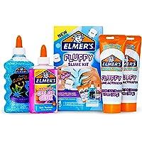 Elmer's Fluffy Slime Kit | Slime Supplies Include Elmer's Translucent Color Glue, Elmer's Glitter Glue, Elmer's Fluffy…