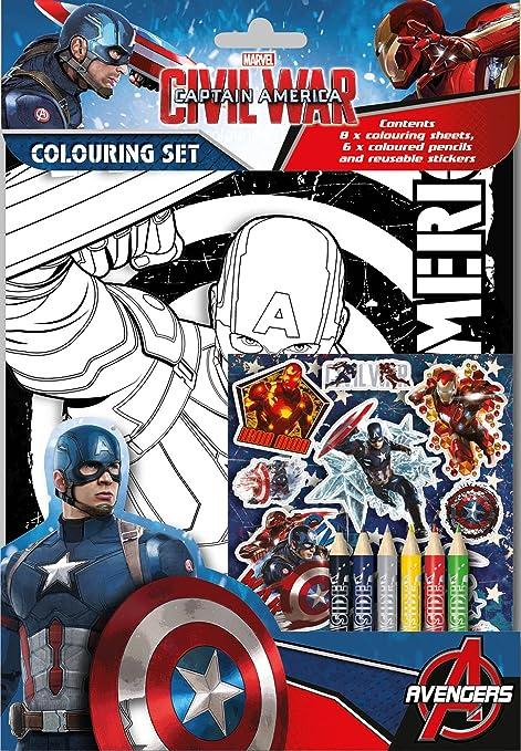 Anker Captain America Set Per Colorare Amazon It Casa E Cucina