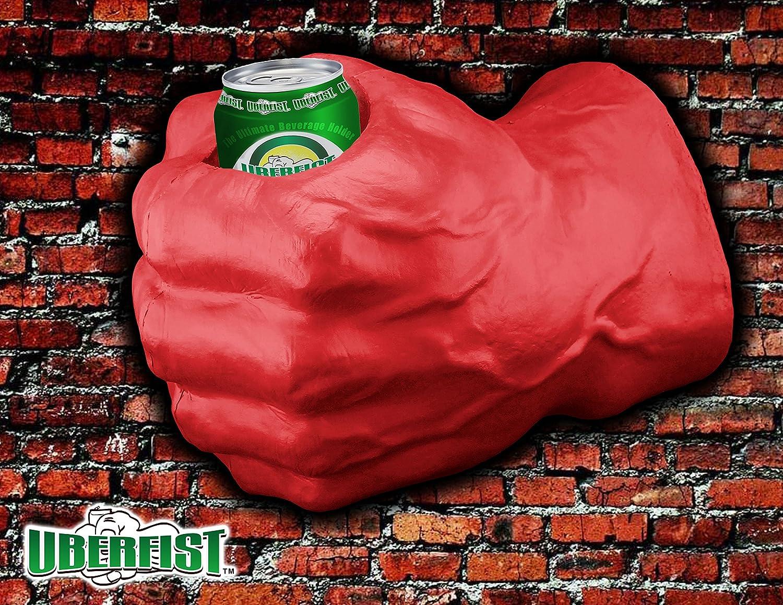 UBERFIST Hulk fist Beverage Holder, Left Handed, red Sports Fan