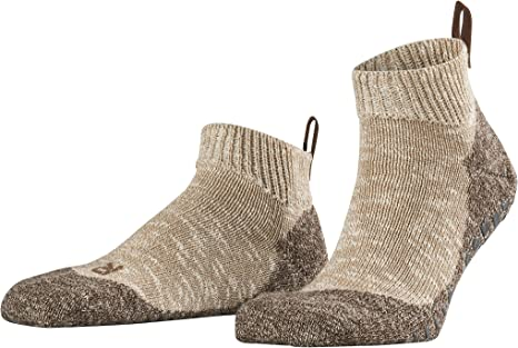 Mens 1 Pair Falke Lodge Homepad Cotton Socks with Grips