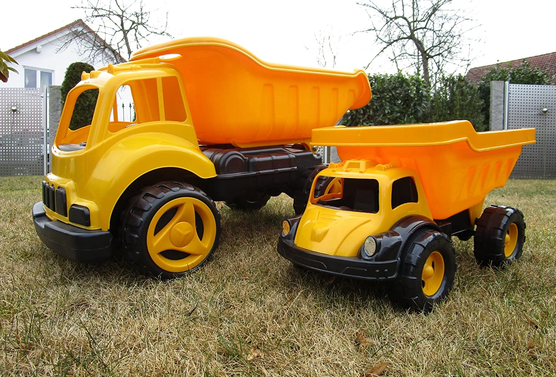 XXL Kinder XL LKW 2 er Set Kipper Sandkipper Sandfahrzeug Sandkasten 20120/20115