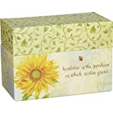 """LANG - Recipe Card Box - """"Virtue Grows"""" - Artwork by Jane Shasky - Easel Style Cover - 12 Coordinating,  4 x 5 Recipe Cards w Dividers -  6.75"""" x 5"""" x 3.75"""""""