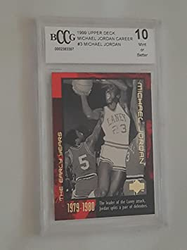 e1250900e7b7 New 1979 1980 Michael Jordan Laney High School 1999 Upper Deck 10 Mint