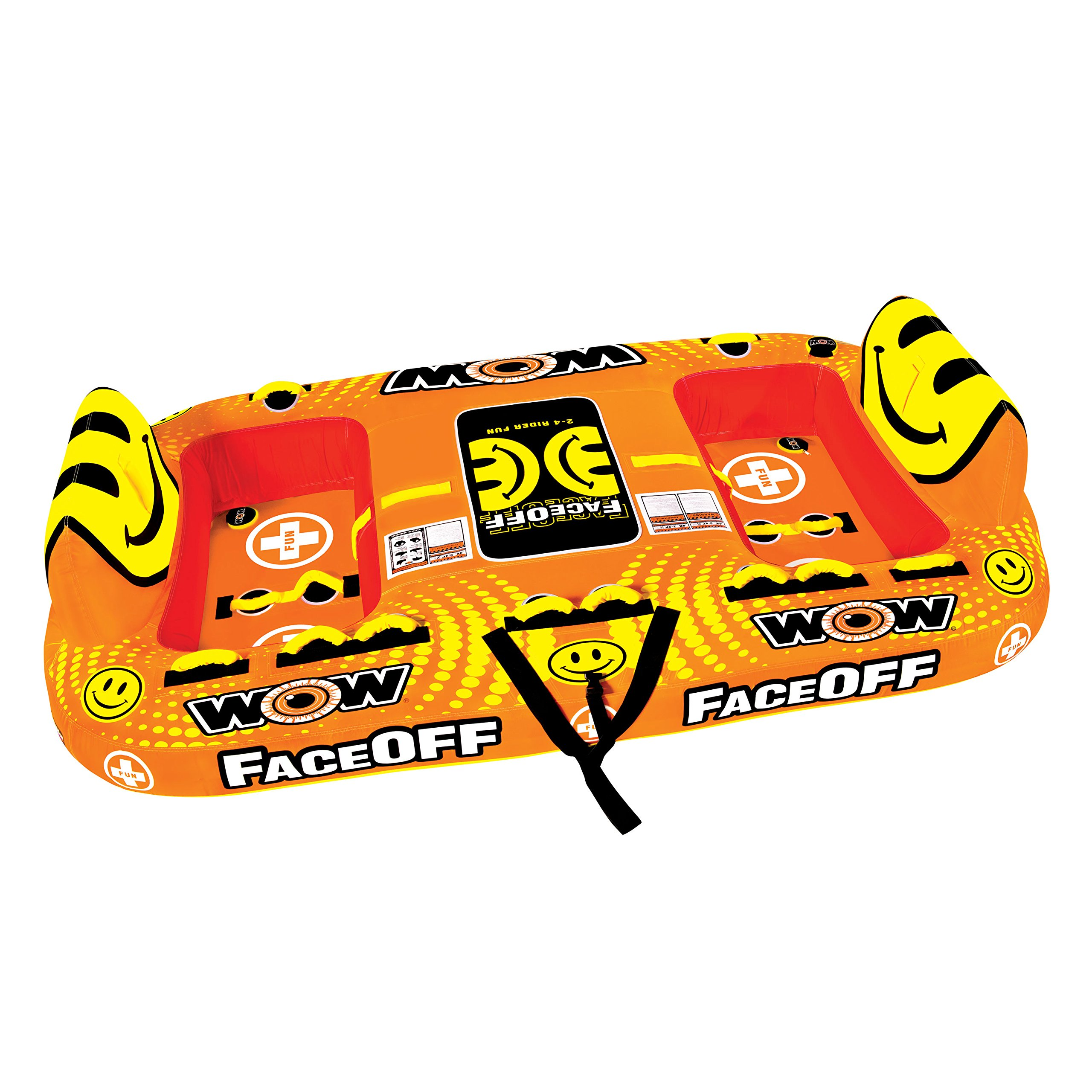 WOW World of Watersports, 15-1050, Face-Off Towable, Ride Face to Face, 1 to 4 Person by WOW Sports