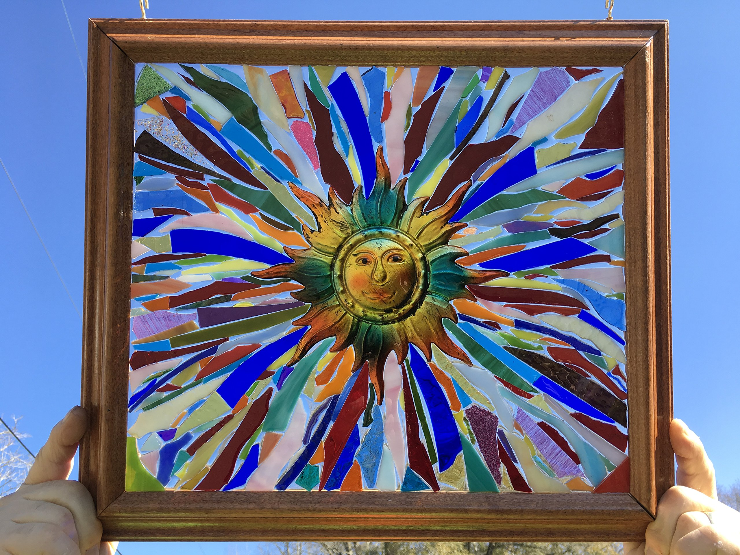 Sun Stained Glass Window Art Suncatcher by Mountain Mosaics