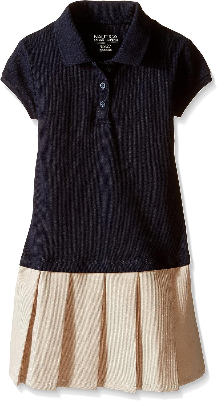 Nautica Girls Uniform Pleated Polo Dress