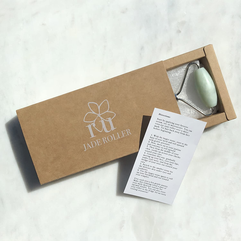 Amazon.com: Jade Roller | Real Natural Jade Stone Facial Massager ...