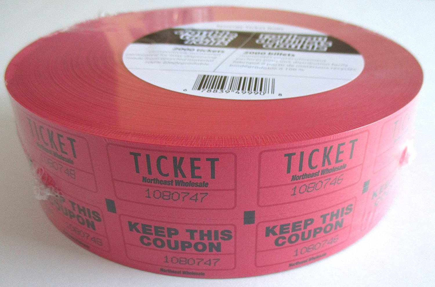 Admit One Tickets With Coupon 2000 Tickets Red Colour Canada Ticket Rolls