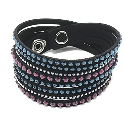 ae3bf8bca3e60 Swarovski Slake bracelet with multicoloured crystals pink, black ...