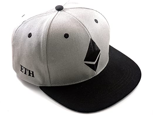 dbe2a0ea Image Unavailable. Image not available for. Color: DECENT CRYPTO Embroidered  Ethereum Cryptocurrency Snapback Fitted Baseball Hat Grey