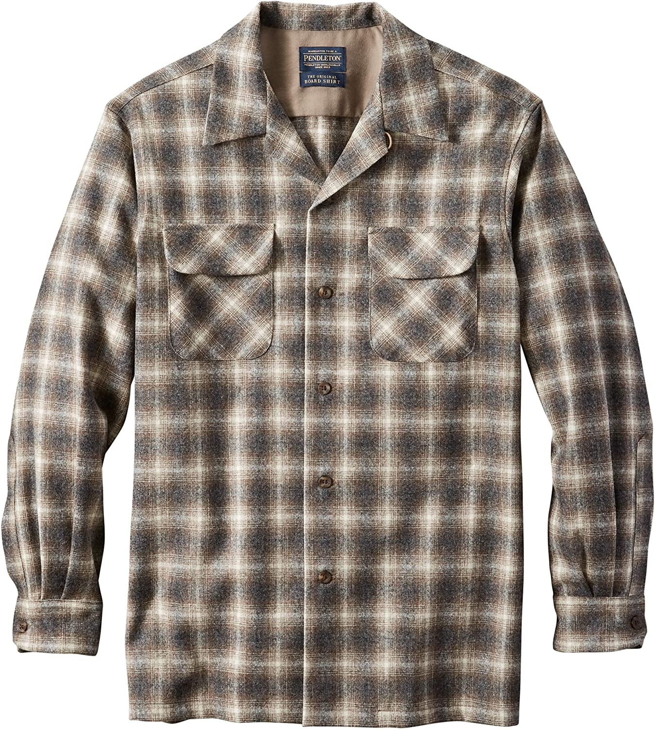 1920s Men's Dress Shirts, Casual Shirts Pendleton Mens Long Sleeve Classic-fit Board Shirt $149.00 AT vintagedancer.com
