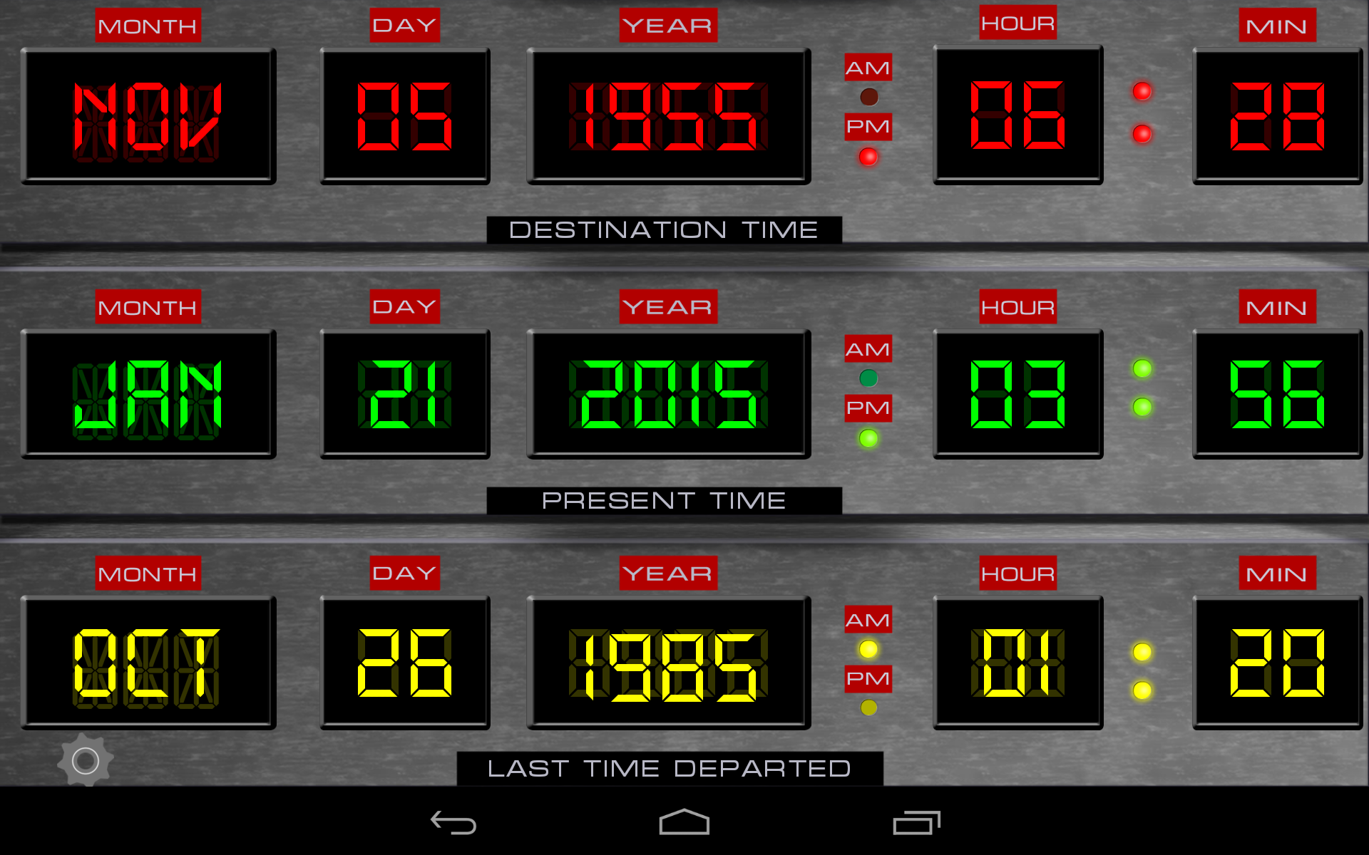 Time Circuits Dashboard Clock Appstore For Android Images