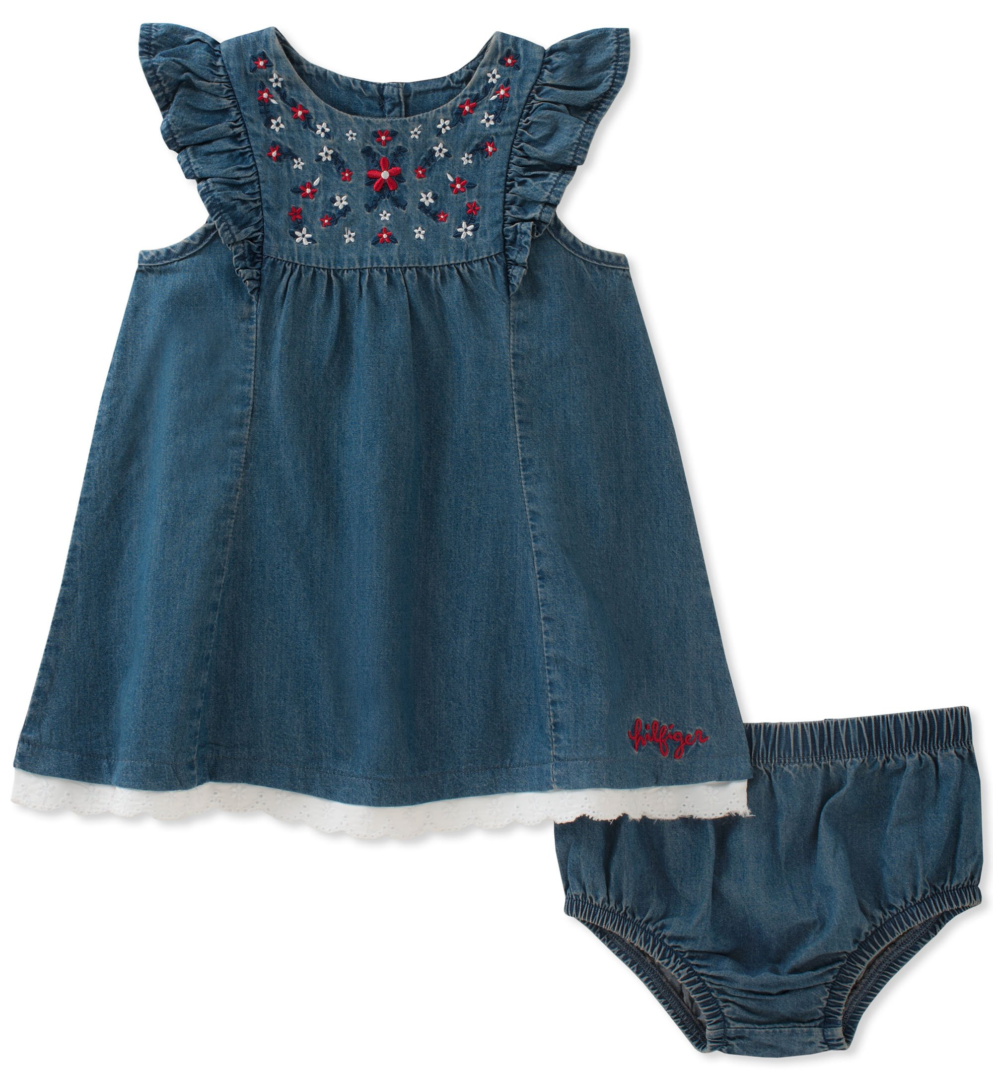Tommy Hilfiger Baby Girls Dress With Panty Blue 3 6 Months