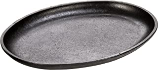 "product image for Lodge Handleless Oval Serving Griddle, 10"" x 7.5"", 10"", Black"