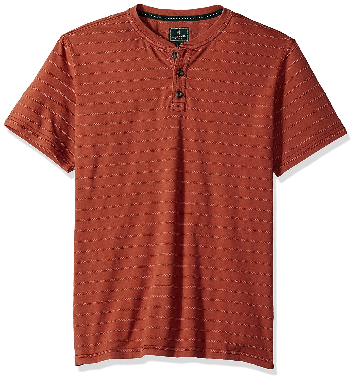 G.H. Bass & Co.... Mens Standard Jack Mountain Textured Jersey Short Sleeve Henley 5273386