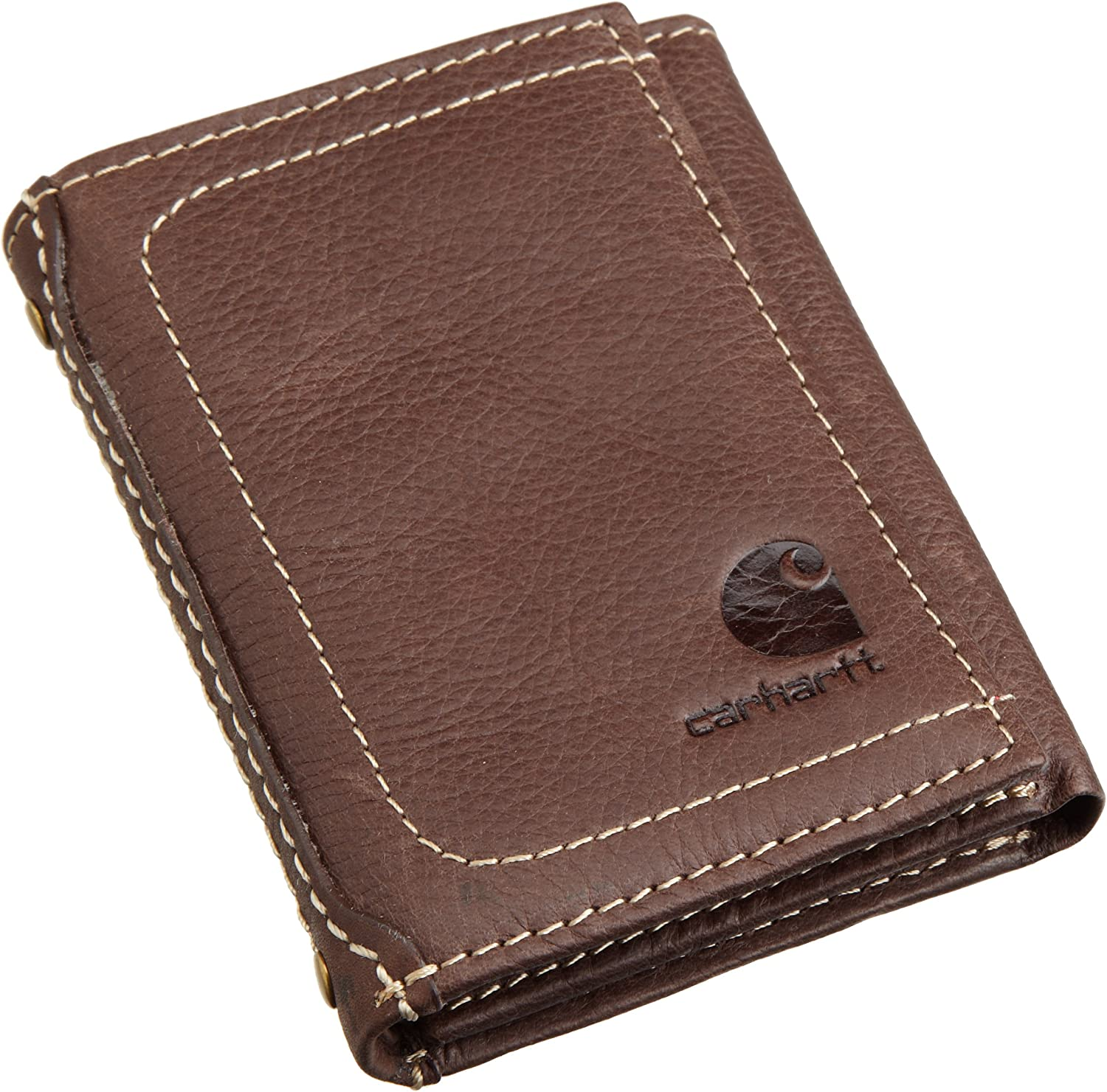 Carhartt Men's Trifold Wallet, Pebble Brown, One Size