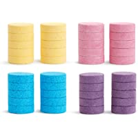 Munchkin Color Buddies Hidratante baño acuarela tabletas y dispensador de juguetes, 20 tabletas, amarillo, rosa, azul, morado., 40 Tablet Refill